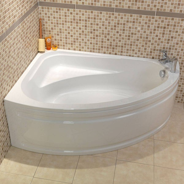 Camden left handed corner bath with acrylic panel