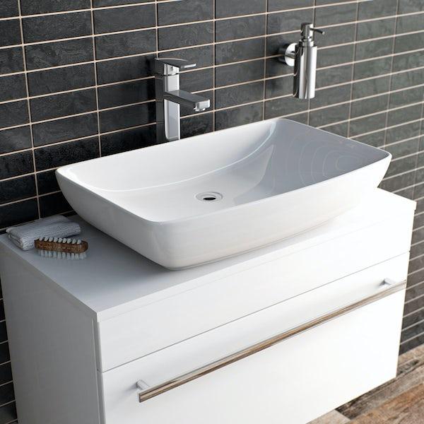 Quartz High Rise Basin Mixer