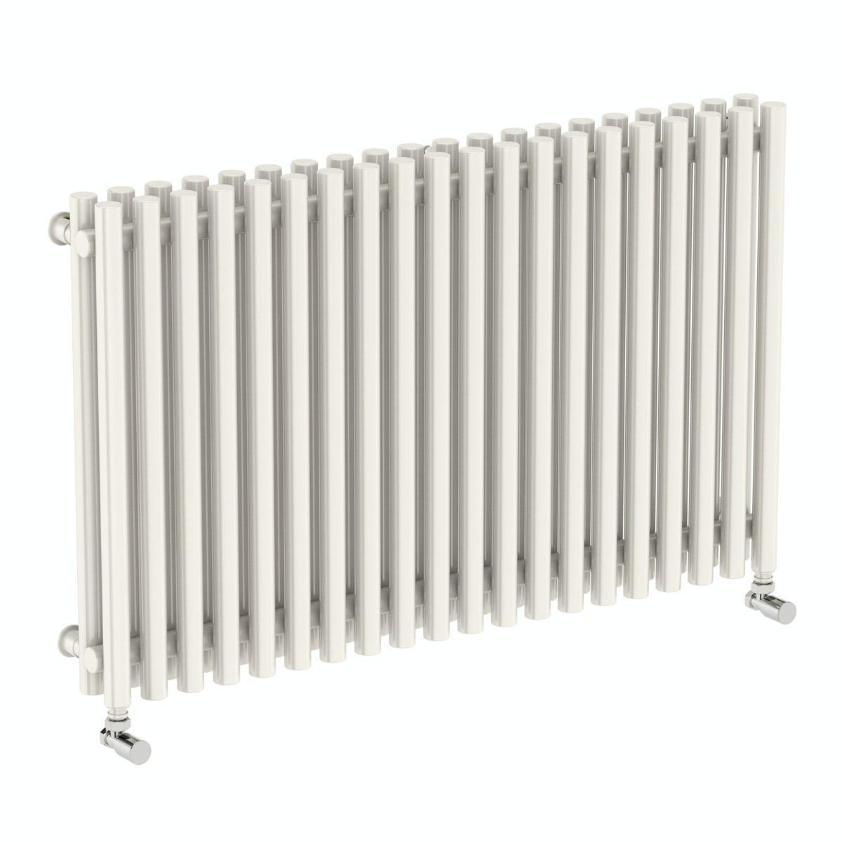 Terma Tune soft white double horizontal radiator 600 x 990