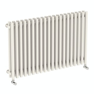 Tune soft white double horizontal radiator 600 x 990