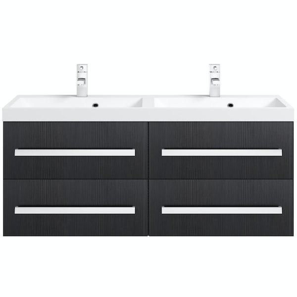 Wye essen wall hung double basin unit 1200mm