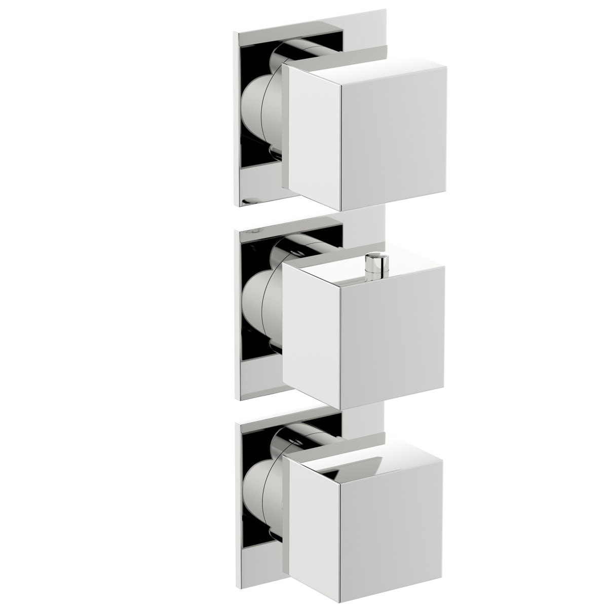 Mode Cooper square triple thermostatic shower valve with diverter