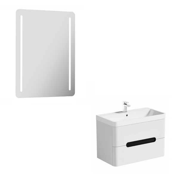 Mode Ellis essen wall hung vanity unit 800mm and mirror offer
