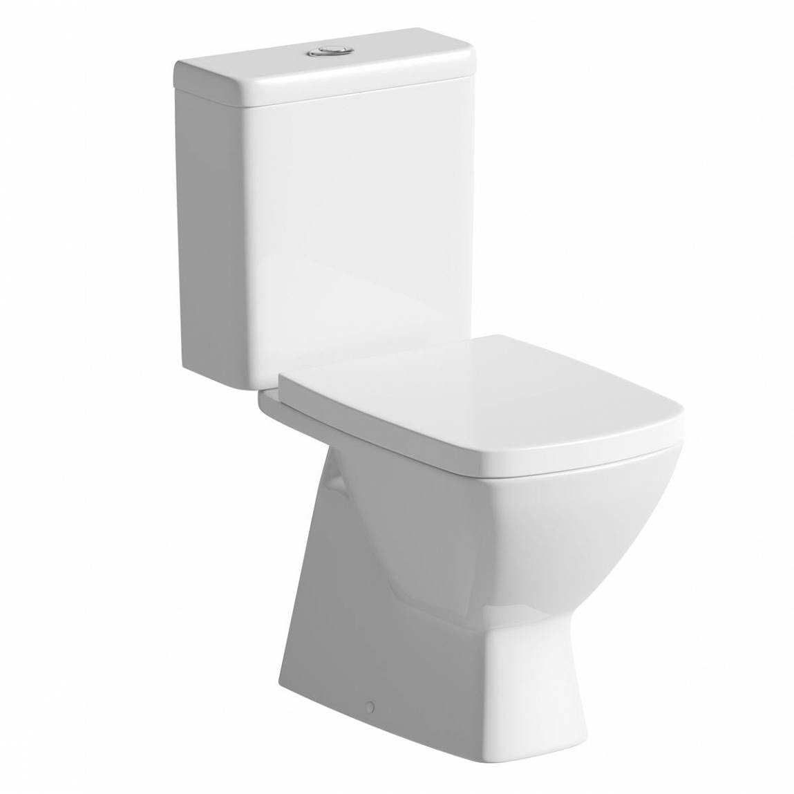 Mode Cooper close coupled toilet with soft close seat with pan connector
