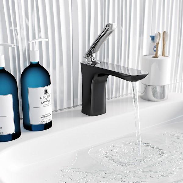 Aalto basin mixer tap black