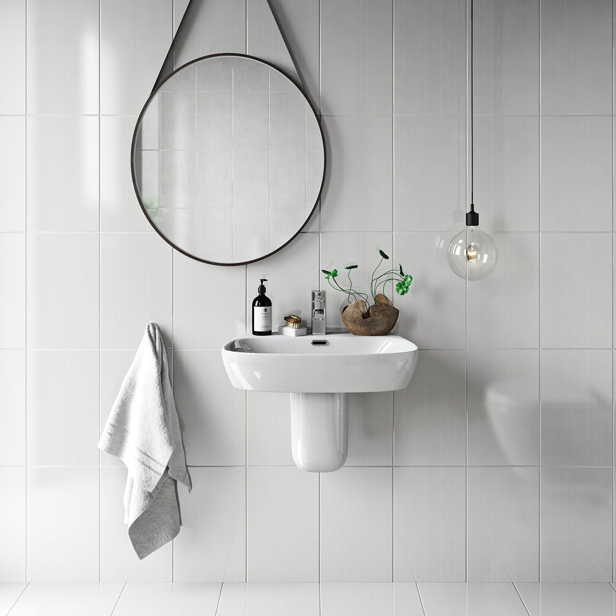 White gloss bathroom tiles techieblogiefo british ceramic tile linear white gloss 248mm x 398mm box dailygadgetfo Choice Image