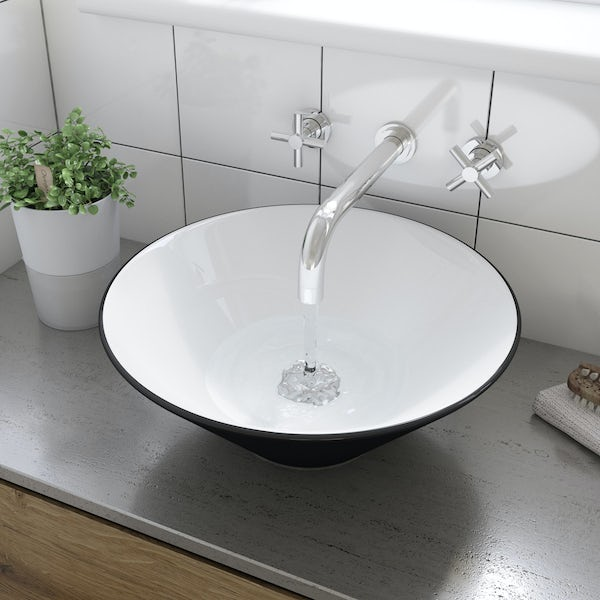 Caspian counter top basin with waste