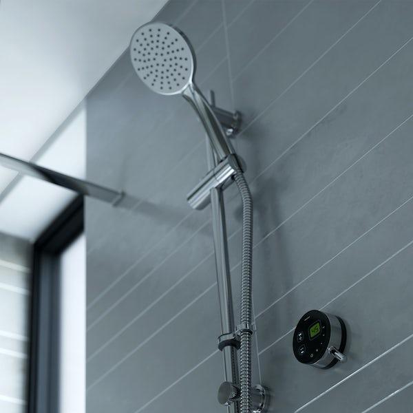 Bristan Artisan Evo digital shower with slider rail kit black