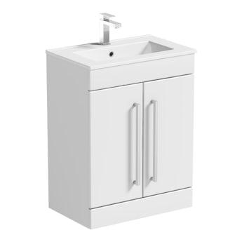 Chamonix vanity door unit and basin 600mm