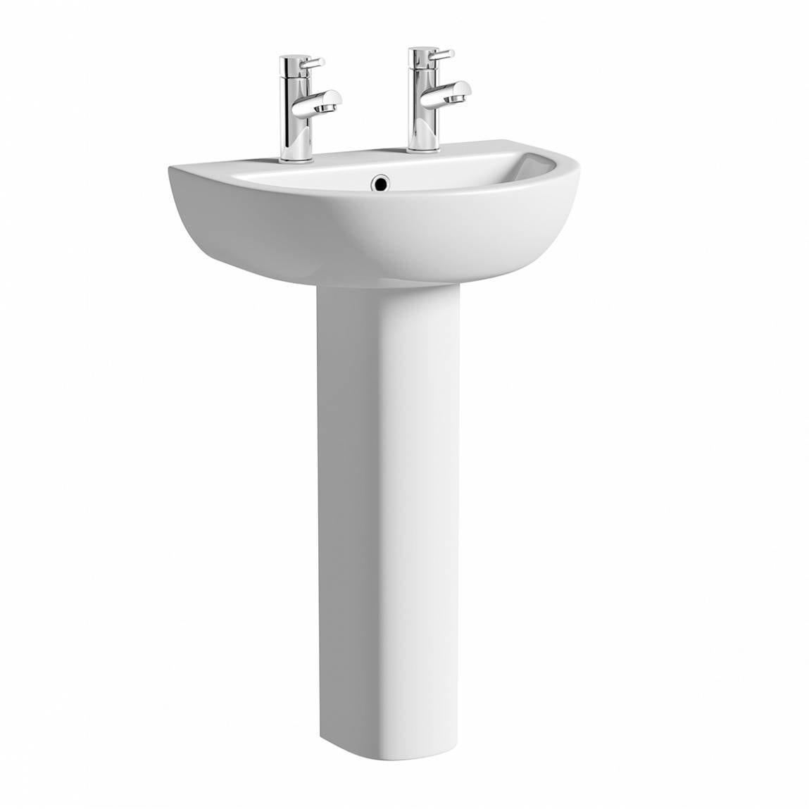 Orchard Elena 2 tap hole full pedestal basin with basin waste