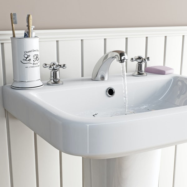 The Bath Co. Camberley 3 hole basin and bath shower mixer tap pack