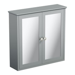 Camberley grey wall hung mirror cabinet