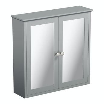 The Bath Co. Camberley grey wall hung mirror cabinet