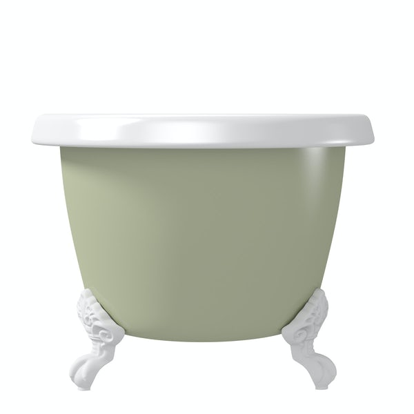 The Bath Co. Dulwich Sage coloured bath