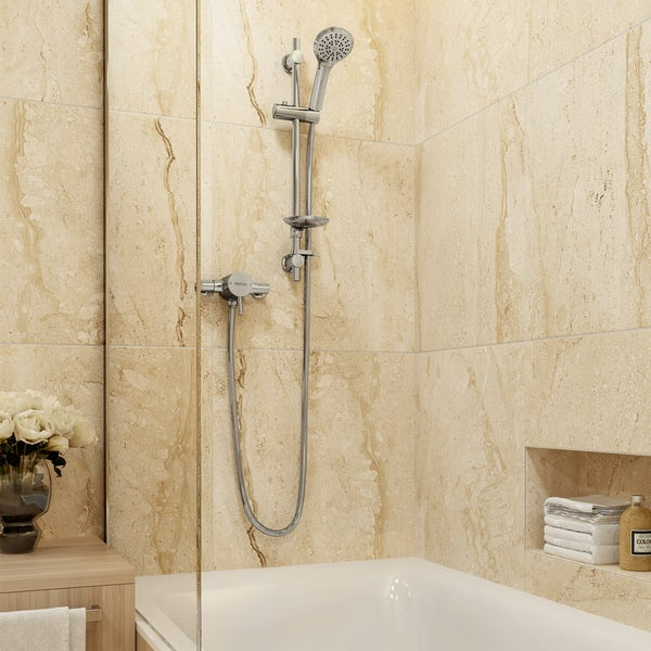 Bristan Prism sequential thermostatic shower valve with slider rail kit