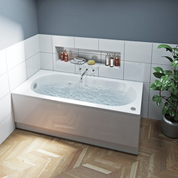 Mode Richmond single end 6 jet whirlpool bath 1600 x 700