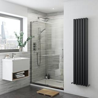 Glaser 8mm easy clean left handed sliding shower door