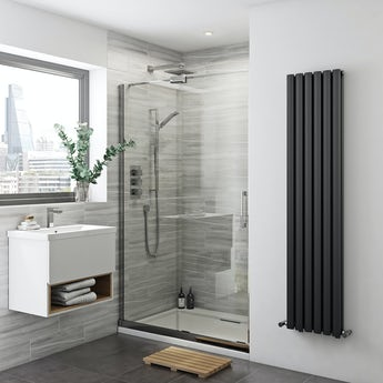 Mode Glaser premium 8mm easy clean left handed sliding shower door