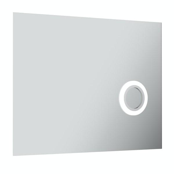 Aurora rectangular LED mirror