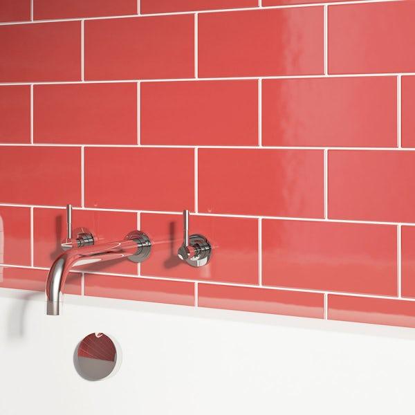 British Ceramic Tile Metro red gloss 100mm x 200mm