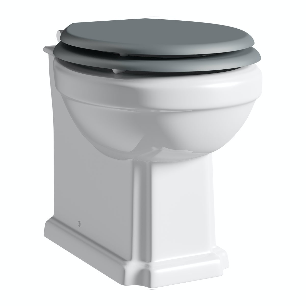 The Bath Co. Camberley back to wall toilet with satin grey soft close seat
