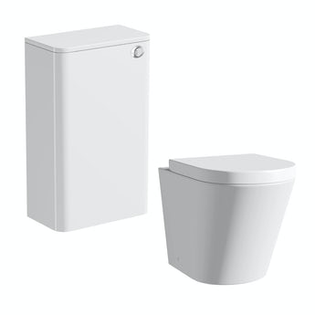 Mode Ellis white back to wall toilet unit and Arte toilet with seat