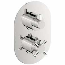 Image of Alexa Oval Twin Valve with Diverter Special Offer