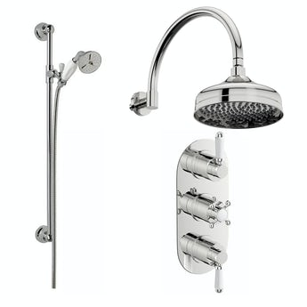 The Bath Co. Coniston thermostatic shower valve with sliding rail set
