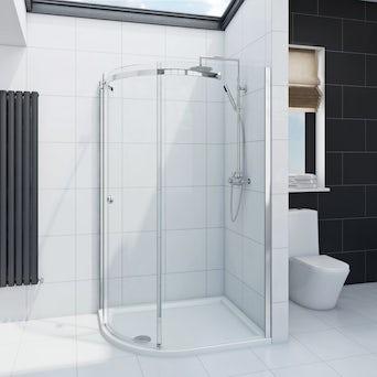 Infiniti 8mm One Door Offset Quadrant Shower Enclosure 1200 x 800 LH