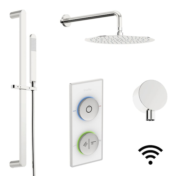 SmarTap & Mode Ellis complete suite with freestanding bath with smart showers and bath filler, enclosure, taps and wastes