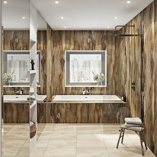 Multipanel Linda Barker Dolce Macchiato Hydrolock shower wall panel