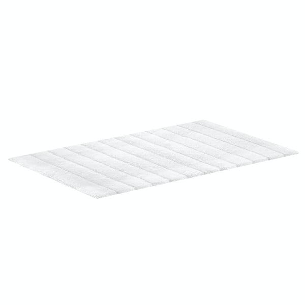 Hug Rug luxury bamboo stripe white bathroom mat 50 x 80cm