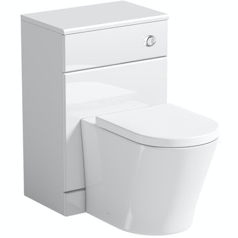 Orchard Eden white back to wall unit with Mode Arte toilet