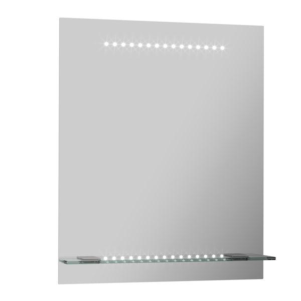 Iridonia LED shelf mirror