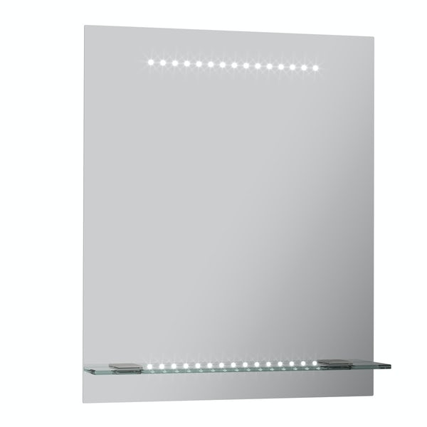 Iridonia LED shelf mirror