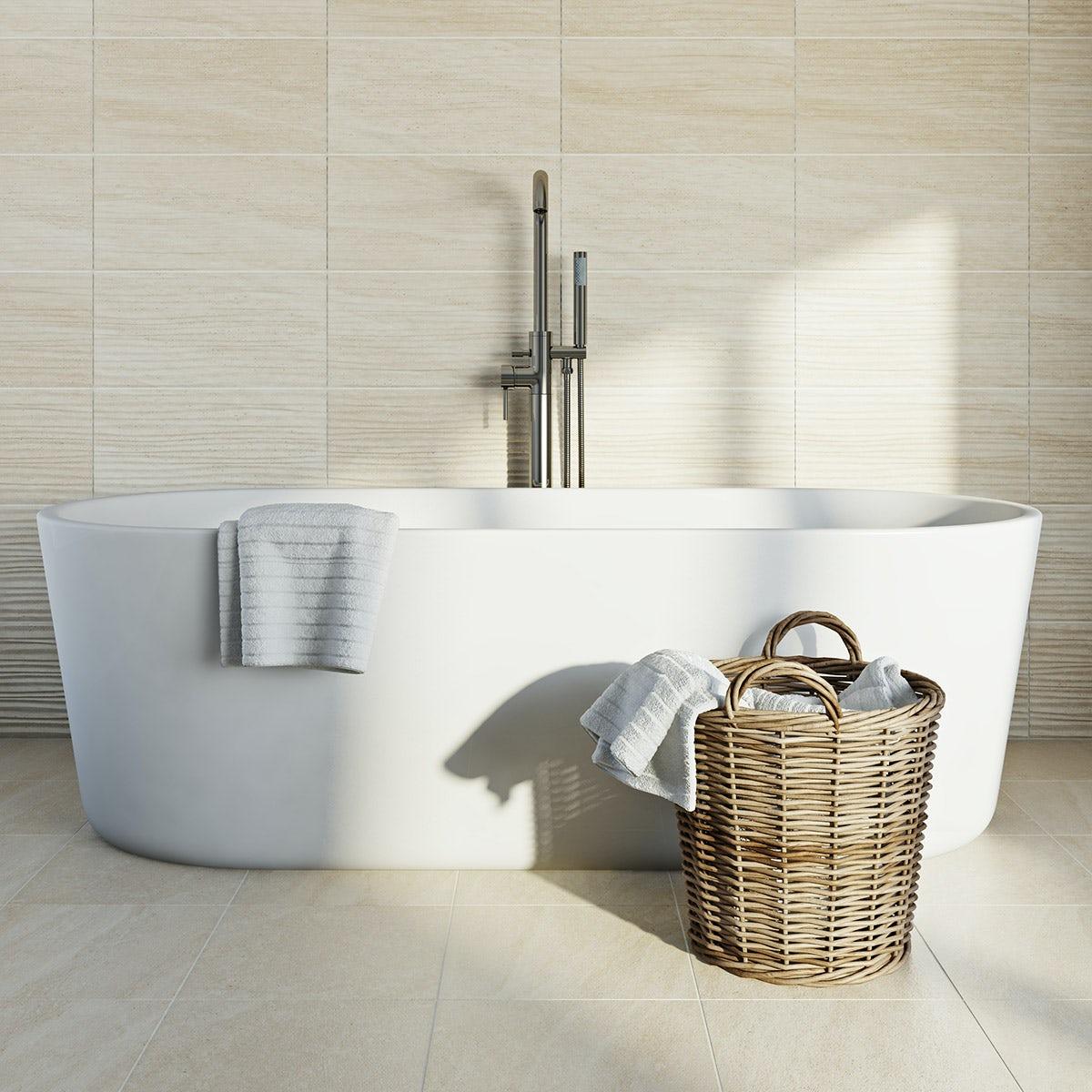 British Ceramic Tile Pumice light wave beige matt tile 248mm x 498mm