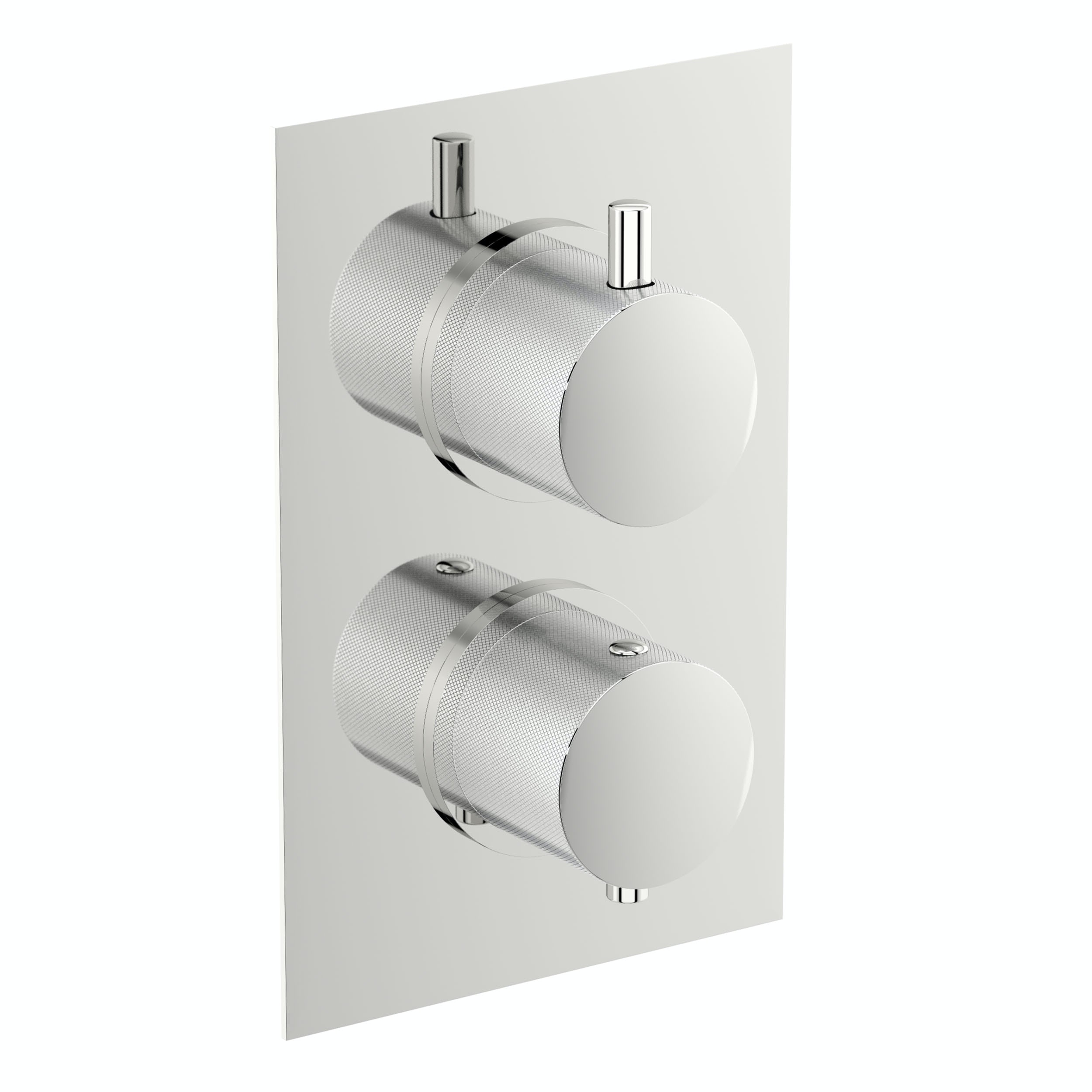 Mode Banks twin thermostatic shower valve with diverter