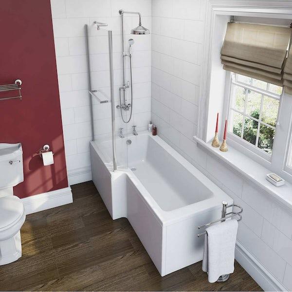 Winchester Bathroom Suite with Boston 1700 x 850 Shower Bath LH