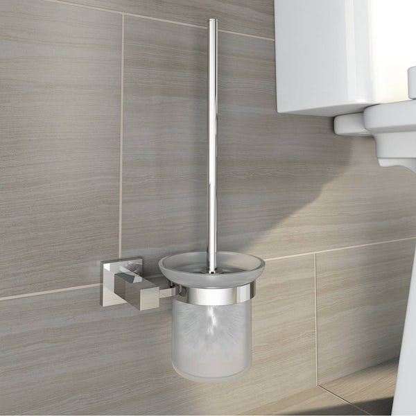 Cubik Toilet Brush & Holder