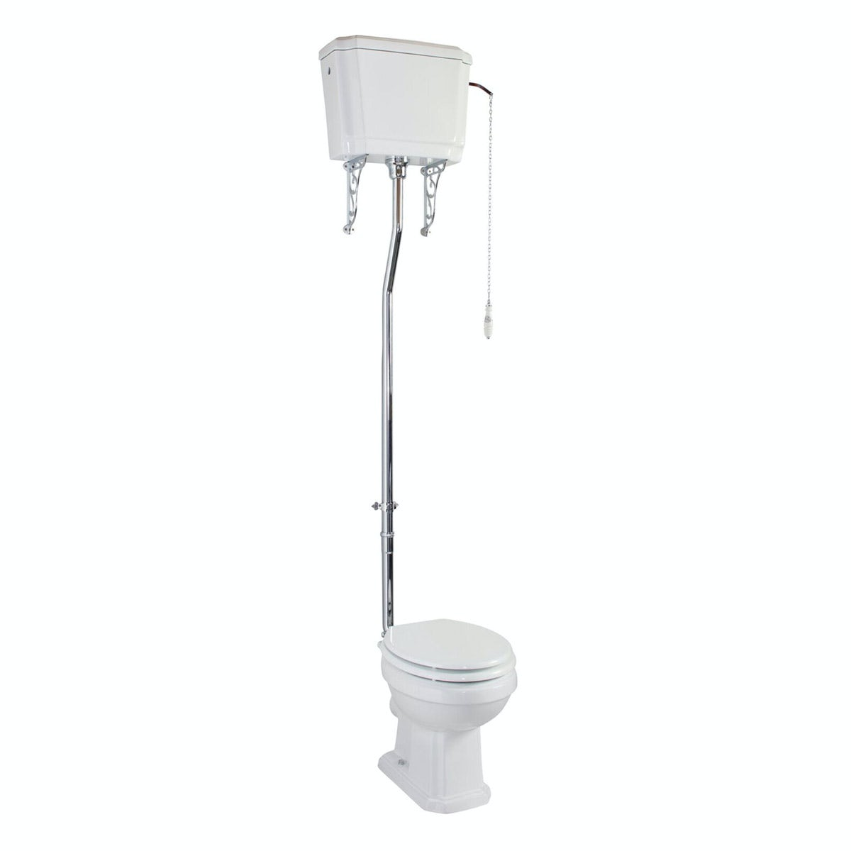 The Bath Co. Cromford high level toilet inc white soft close seat