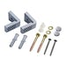 Universal toilet floor fixing kit