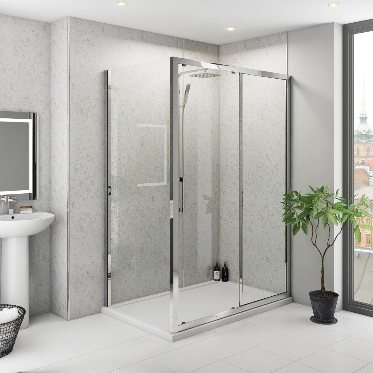 Multipanel Classic Blue Eiger Hydrolock shower wall panel