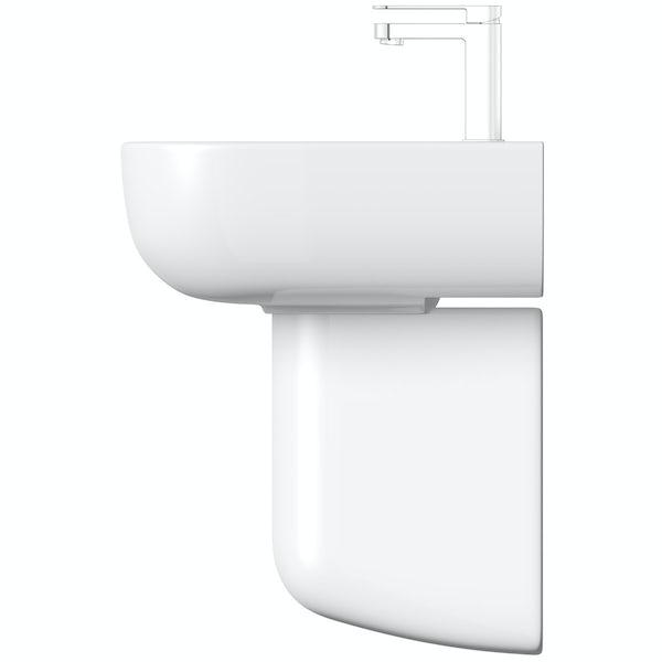 RAK Series 600 semi pedestal basin with 1 tap hole 520mm
