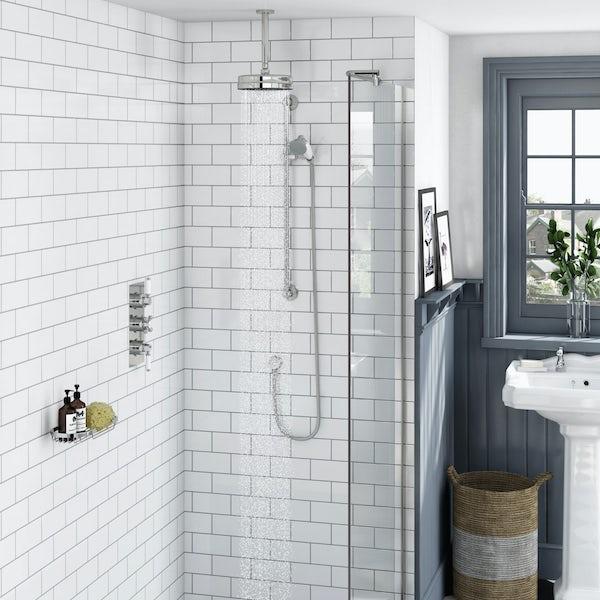 Antonio Thermostatic Ceiling Shower & Slide Rail Set