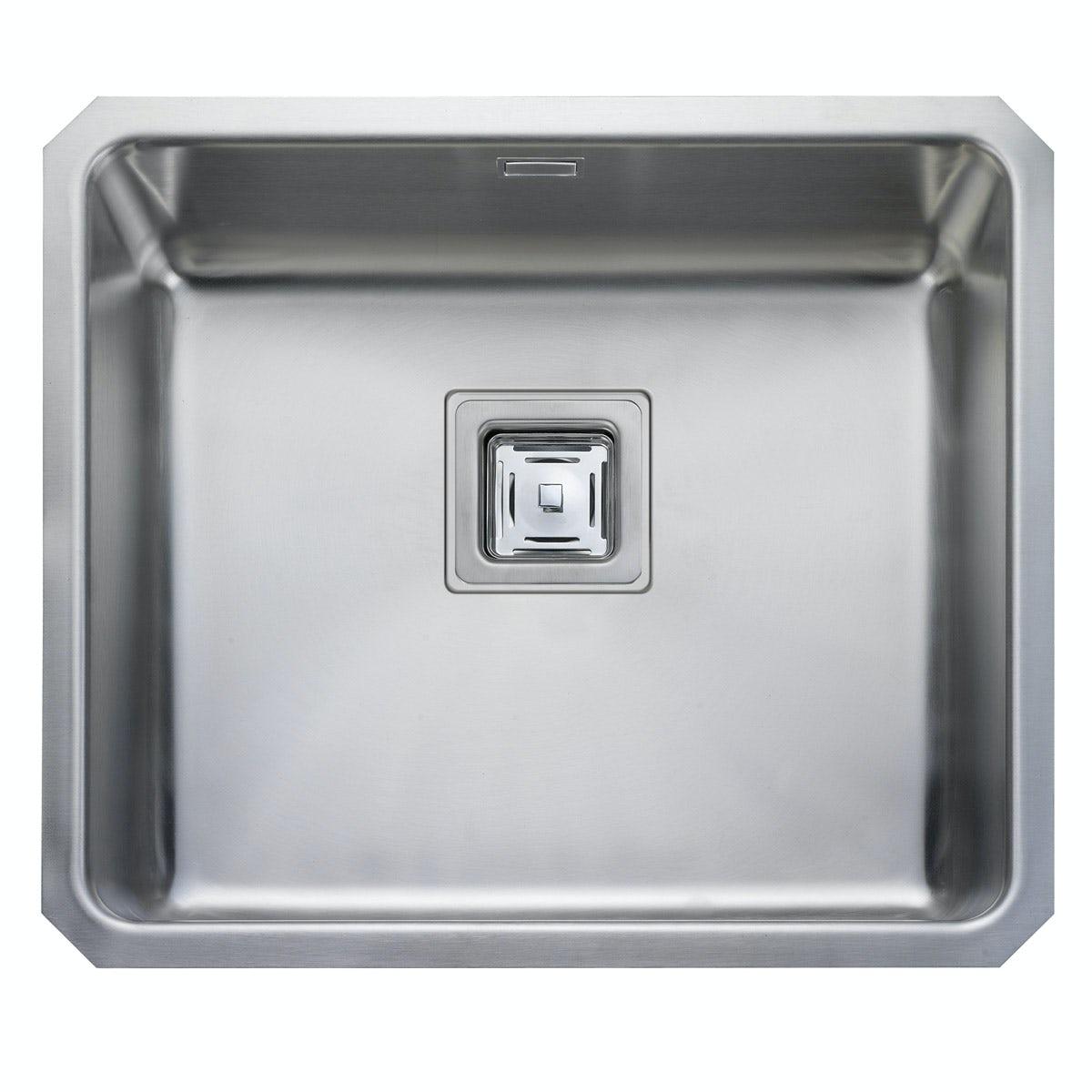 Rangemaster Atlantic Quad 1.0 bowl undermount kitchen sink with waste
