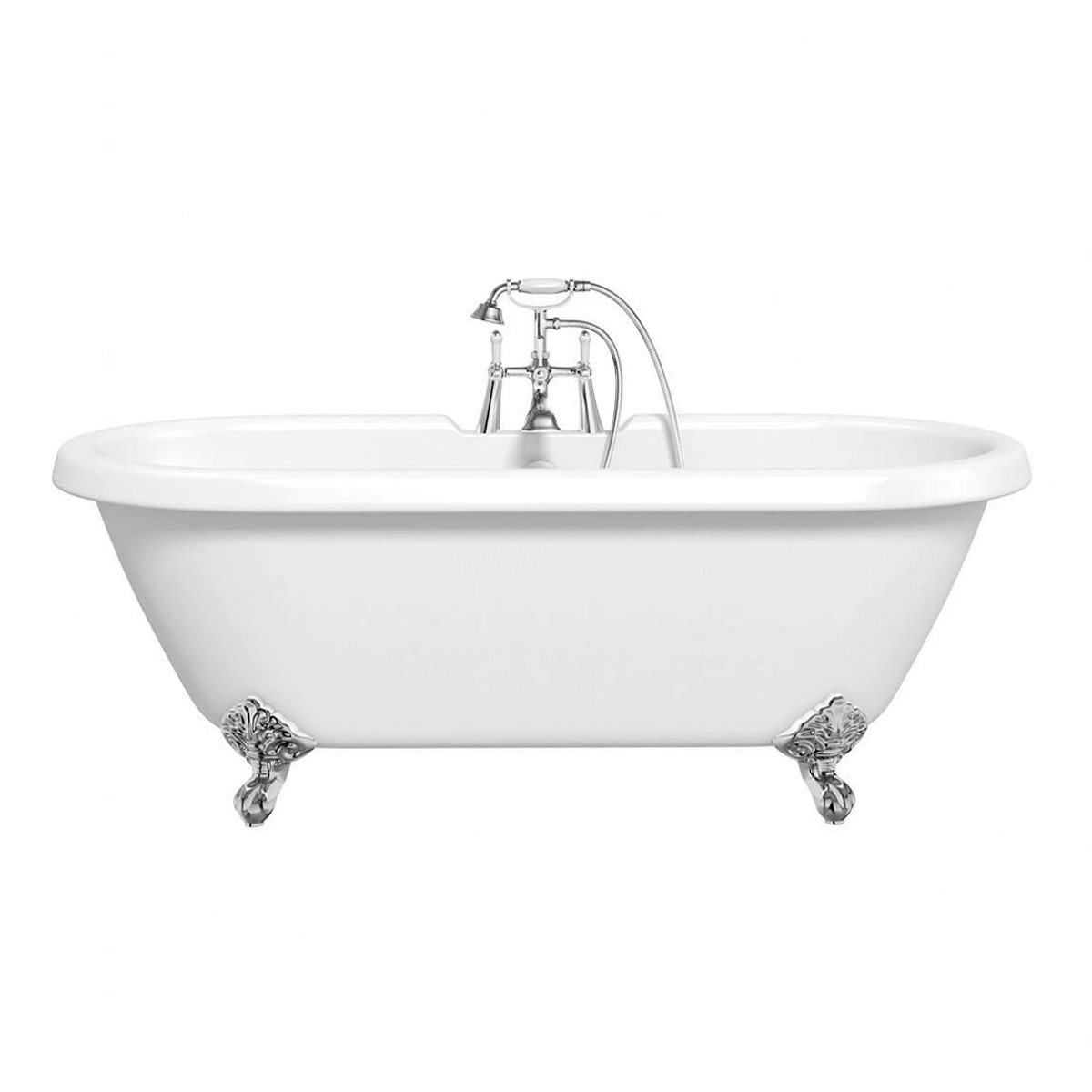 The Bath Co. Dulwich roll top bath with ball feet white 1700mm