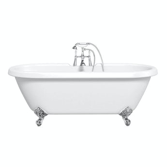 The Bath Co. Dulwich white roll top bath 1770 x 800 with ball feet