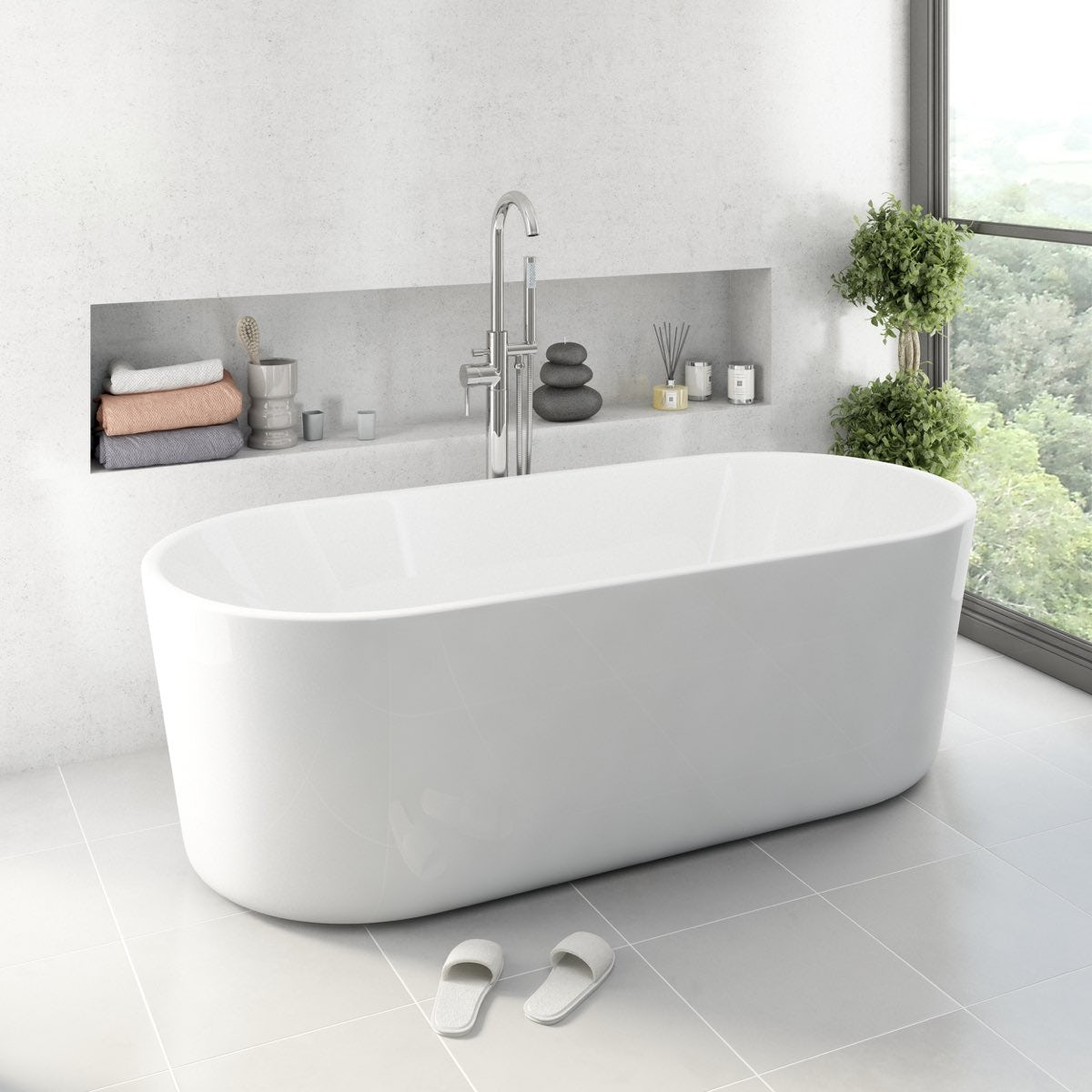 Arte 2 freestanding bath small for Small baths 1100
