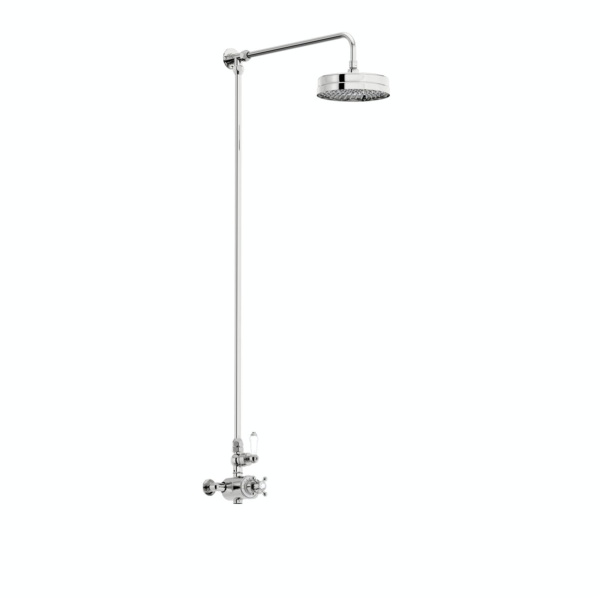 The Bath Co. Winchester rain can exposed riser rail shower system