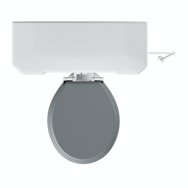 The Bath Co. Camberley high level toilet with grey soft close seat